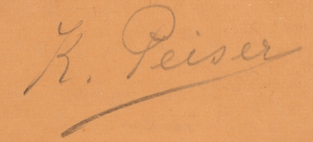 Kurt Peiser — Signature of the artist, bottom right