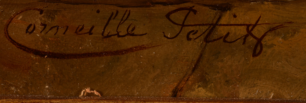 Corneille Petit — Signature of the artist, bottom left