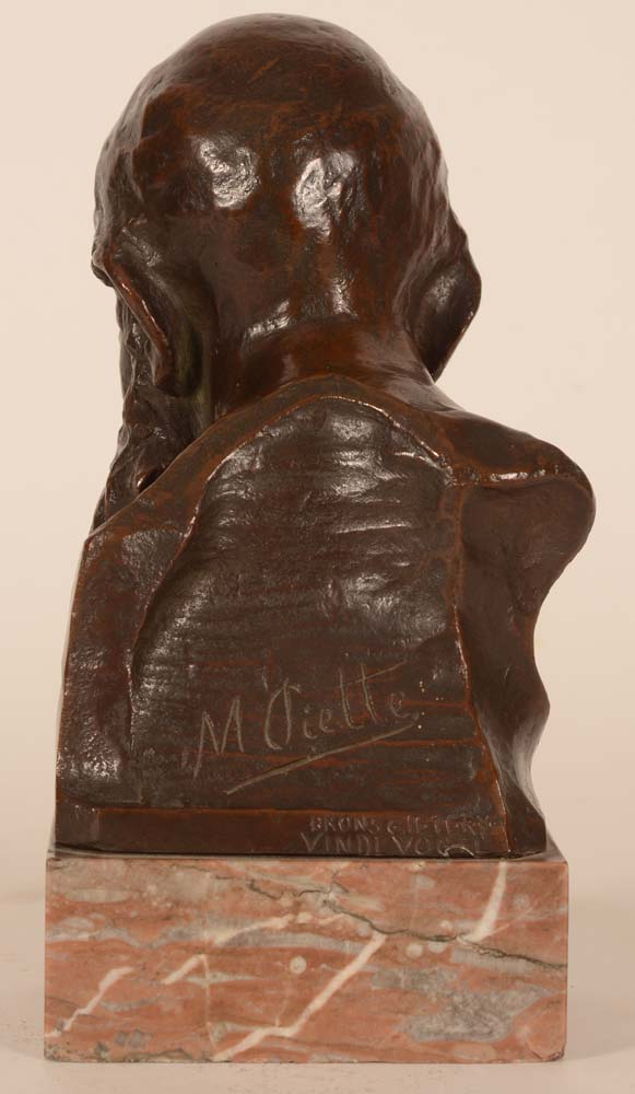 Olivier Maurice Piette — <p>Back of the sculpture with the signature of the artist</p>