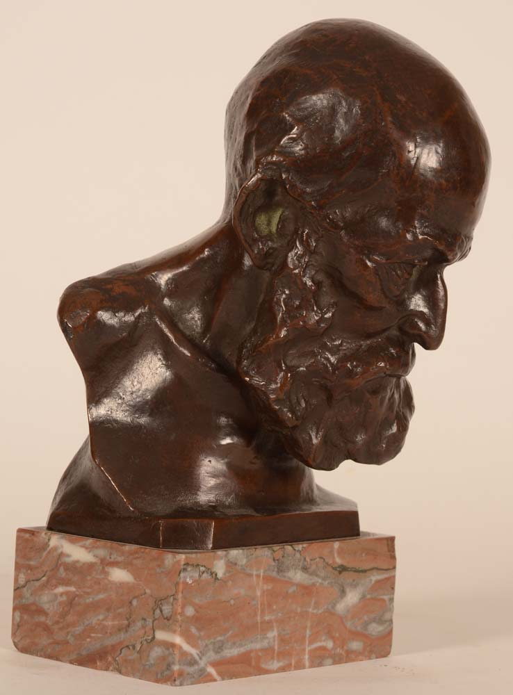 Olivier Maurice Piette — <p>The bust turned to the right</p>