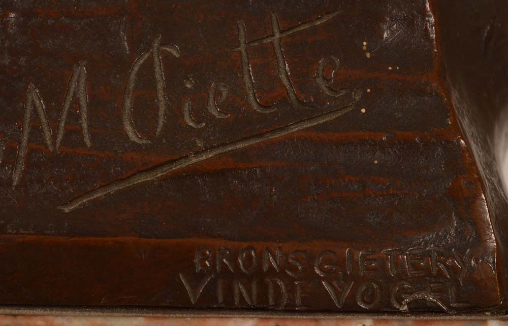 Olivier Maurice Piette — <p>Early signature of the artist and foundry mark at the back</p>