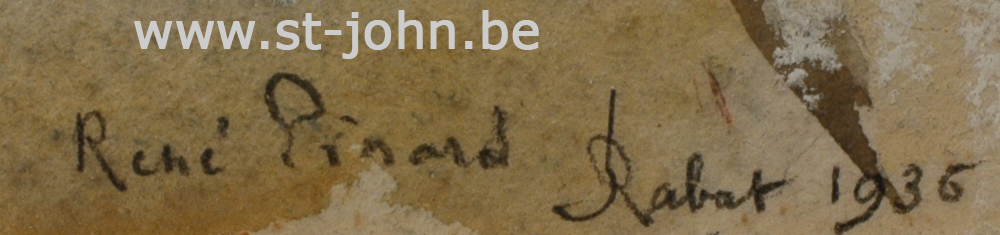 Pinard R.: detail of signature.