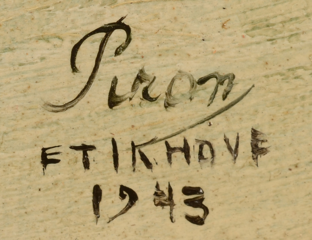 Leo Piron — Signature of the artist, localisation and date bottom right