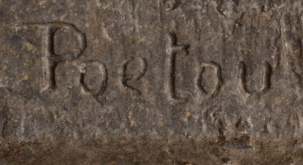 Emile Poetou — Detail of the signature of the artist