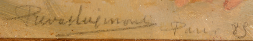 Henri Privat-Livemont — Signature of the artist, and annotated Paris 85