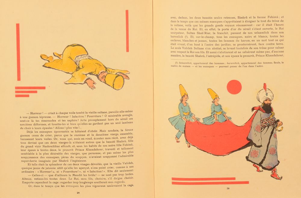 Armand Rassenfosse — Another example of the illustrations showing the modernist abstract details in the illustrations