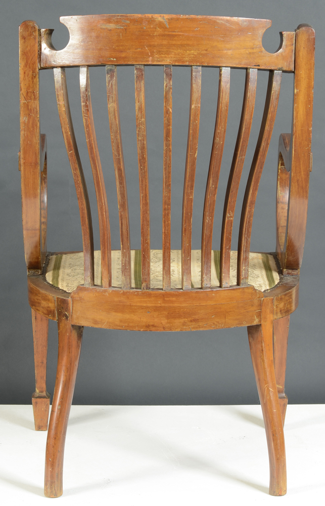 Regency armchair — Back of the chair showing the backlegs.