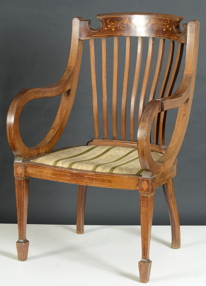 Regency armchair — A good armchair, probably used as a desk chair.
