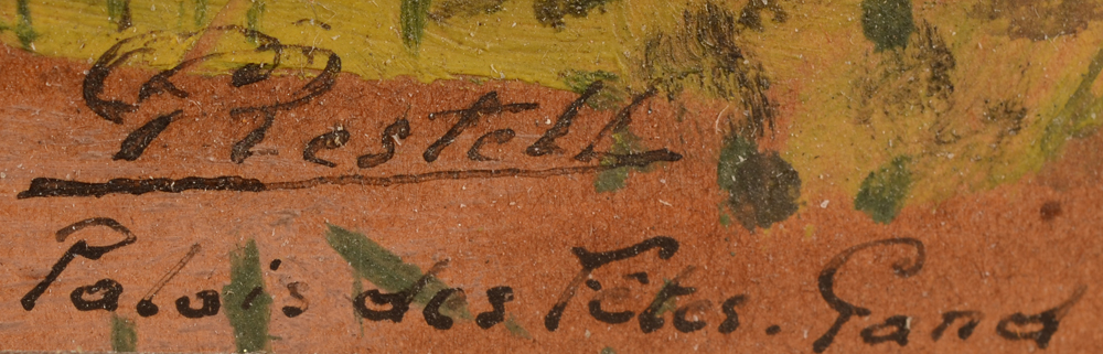 Gaston Restell — signature of the artist and title bottom right