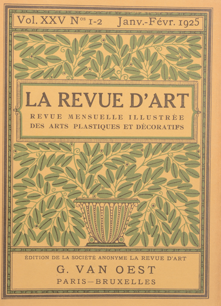 La Revue d'Art 1925 — Cover of January issue