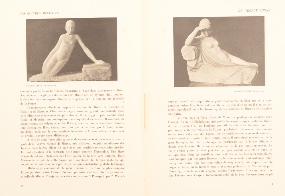 La Revue d'Art 1925 — Special issue on George Minne