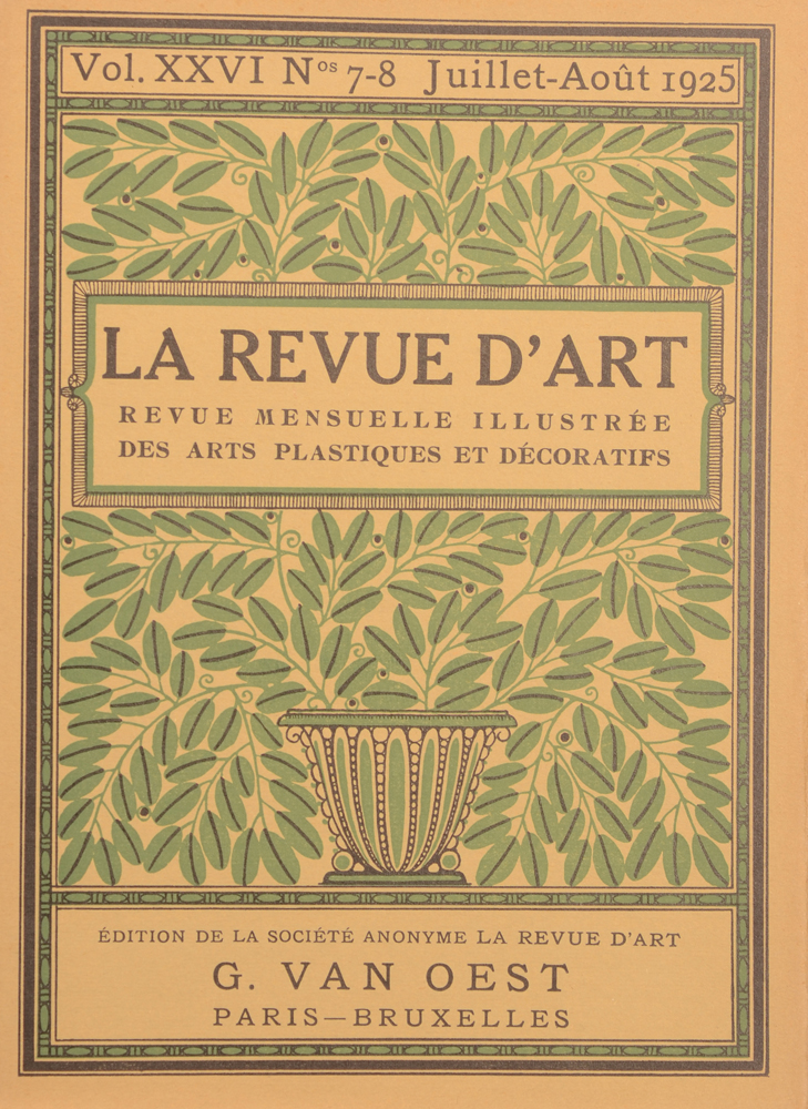 La Revue d'Art 1925 — July cover