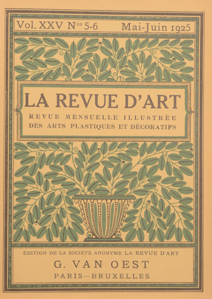 La Revue d'Art 1925 — May cover