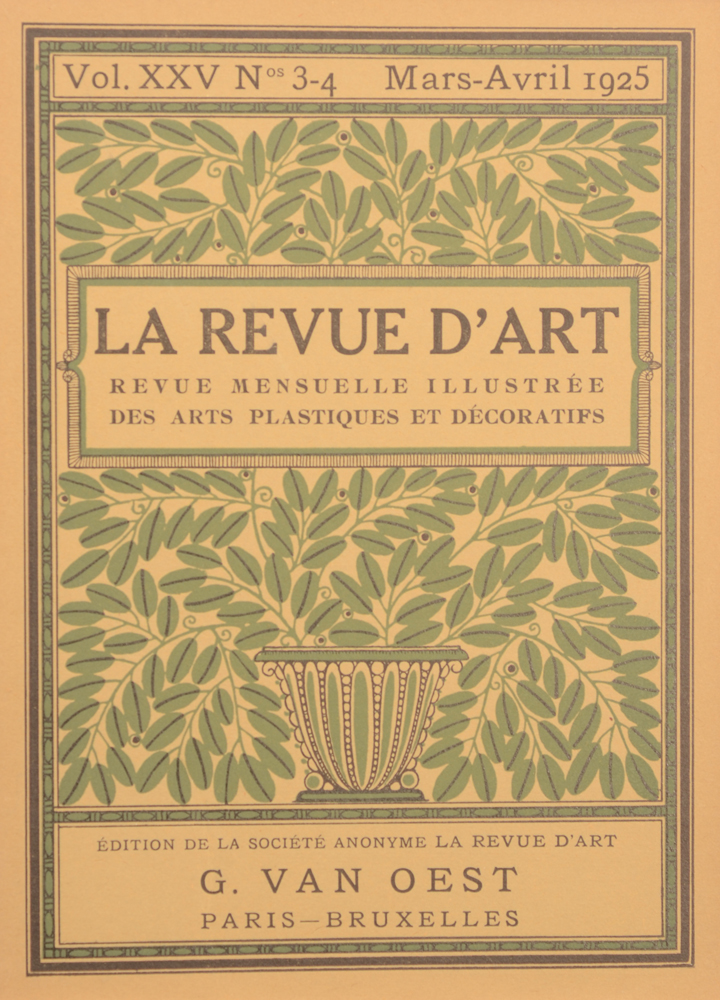 La Revue d'Art 1925 — March cover