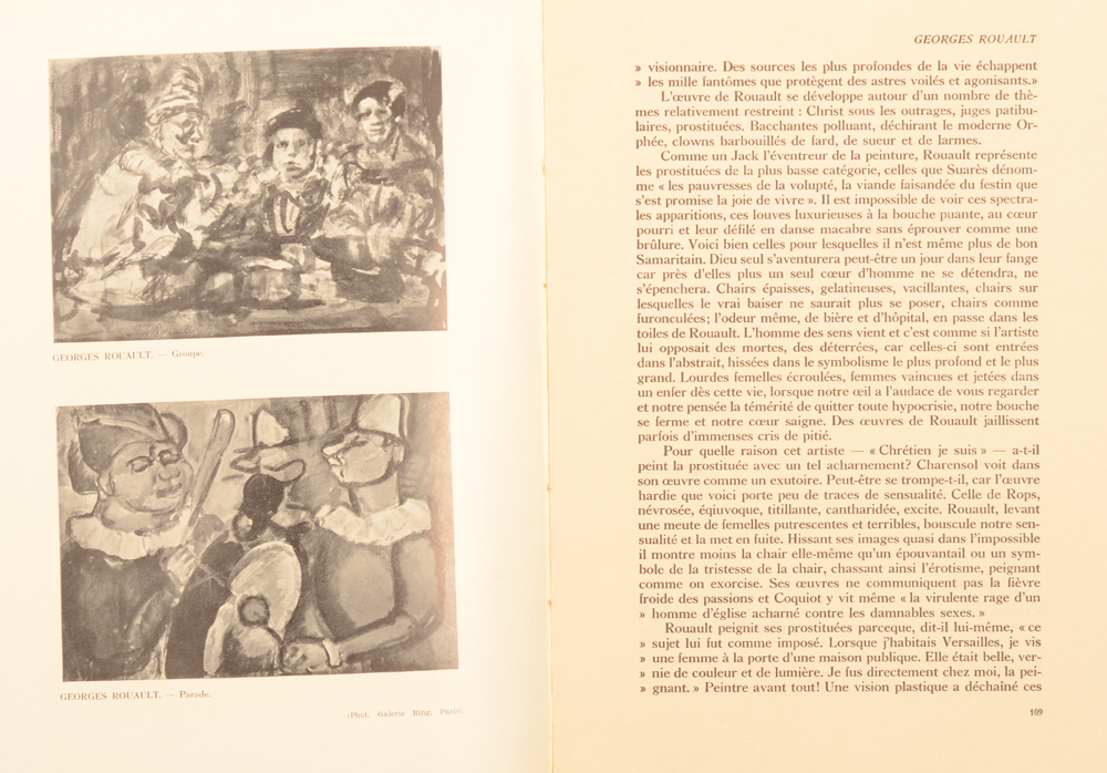 Revue d'Art 1928 — Early article on Georges Rouault by Chabot