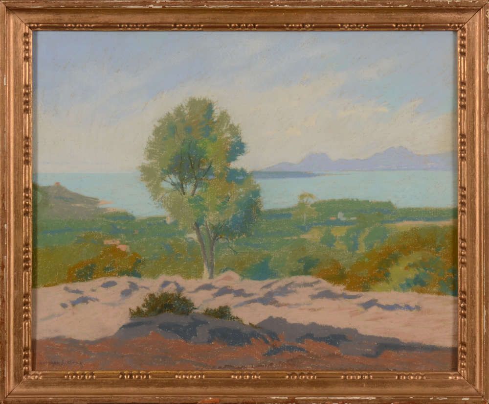 Georges Ritleng — The pastel in its slightly worn frame
