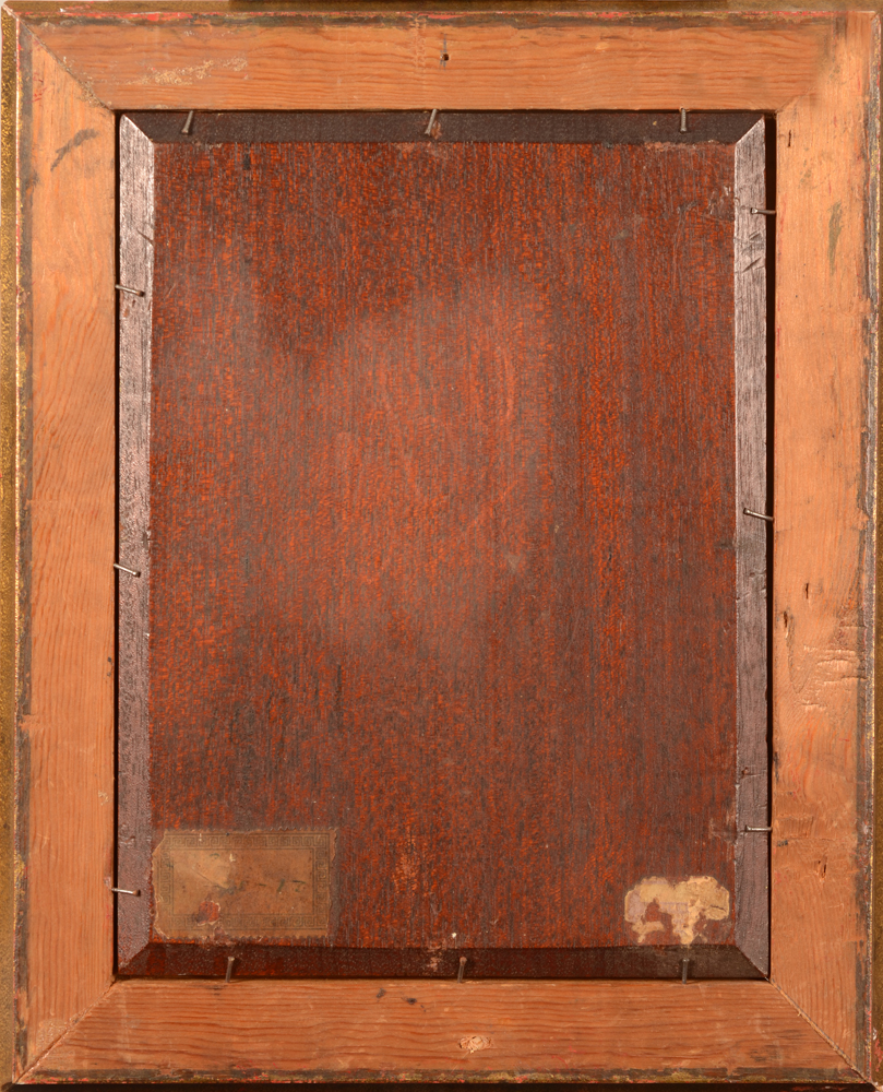 Willem Elisa Roelofs Jr. — Back of the mahogany panel