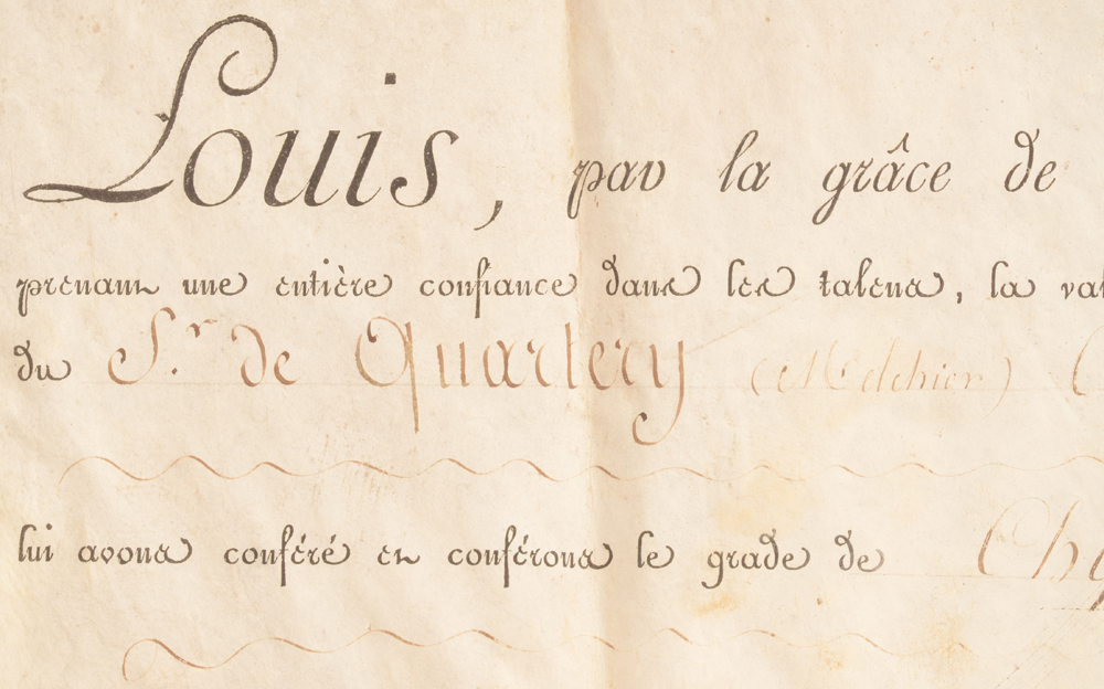 Louis XVIII — <p>Detail of the document</p>