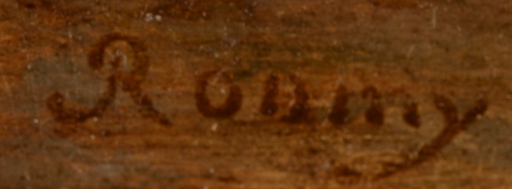 Guillaume Frederic Ronmy — Signature of the artist, bottom left.<br>