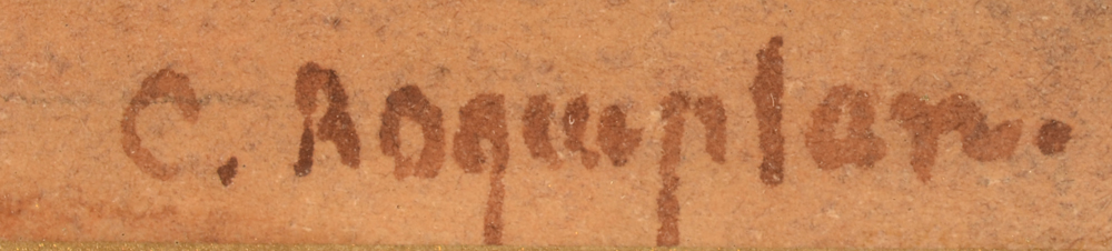 Camille Roqueplan — Signature of the artist, bottom right