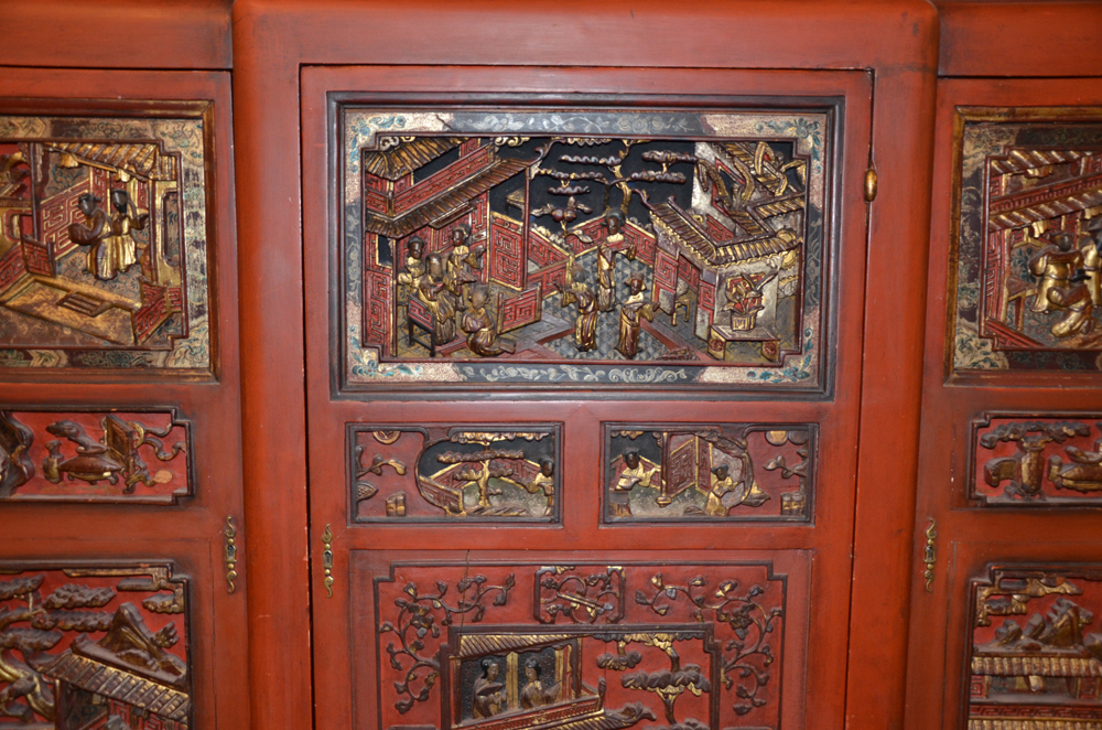 Charles Rosel — Detail of the original Chinese panels