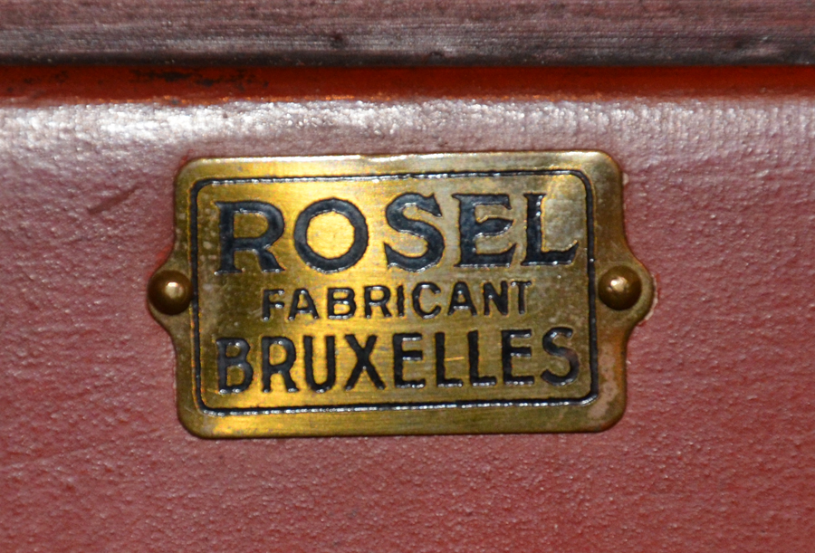 Charles Rosel — Mark of the maker on the inside of one of the doors.