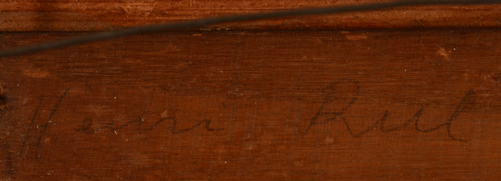 Henry Rul Rural scene — Signature on the panel, possibly by another hand