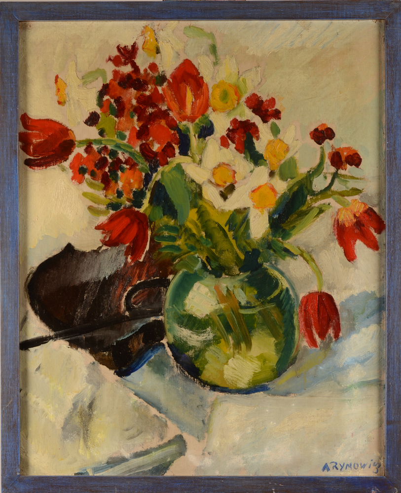 Alice Rymowicz the red tulips — Dans un cadre moderne