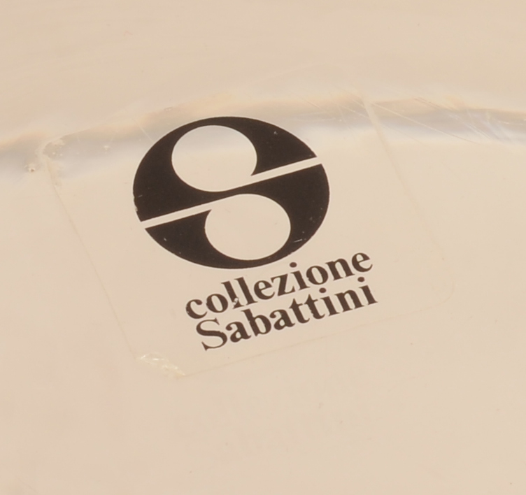Lino Sabattini — Original label on the glass
