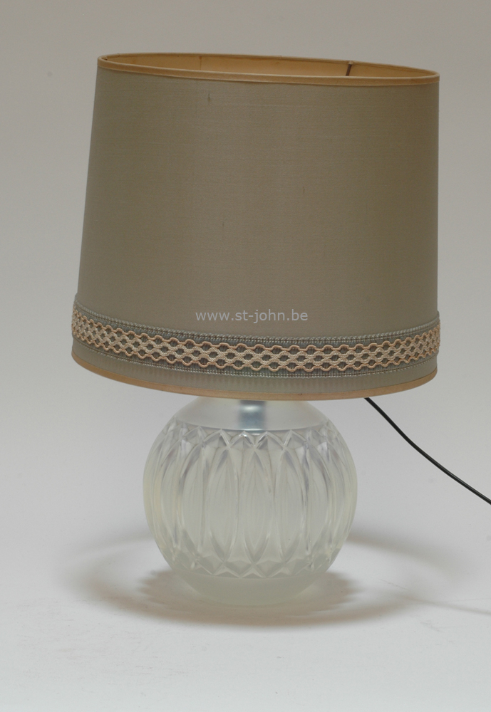 Sabino art deco glass vase, mounted as a lamp.