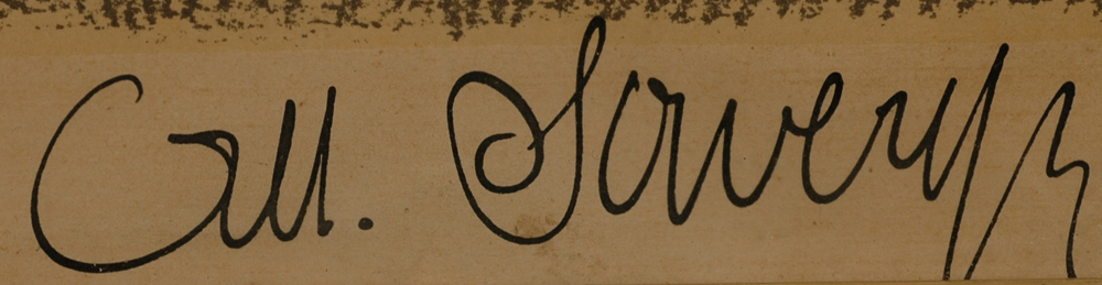 Albert Saverys — Signature of the artist bottom right.