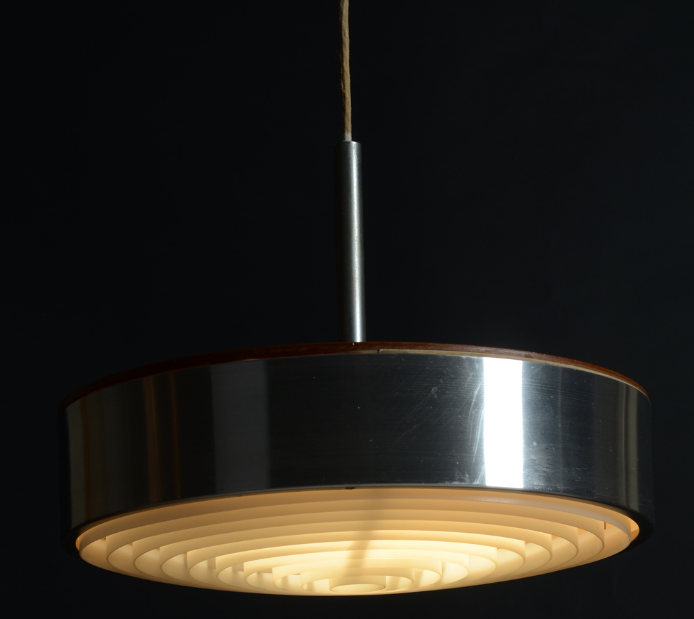 Circular Scandinavian lamp — Probably 1970's, probably of Scandinavian origin.