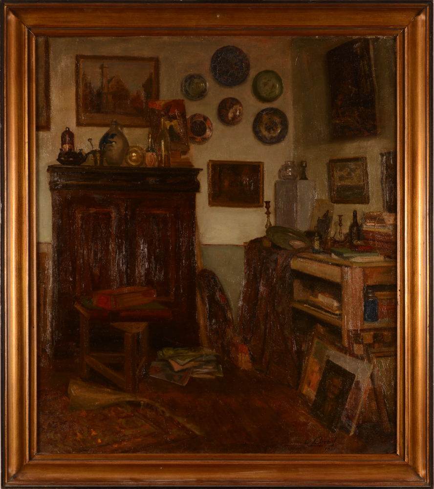 Willy Scaton — the painting in its frame