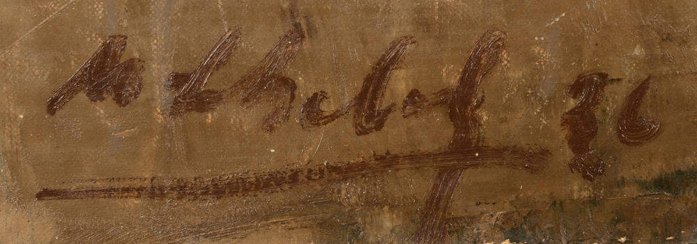 Maurice Schelck — Signature of the artist and date, bottom left