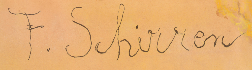 Ferdinand Schirren — Signature of the artist, top right