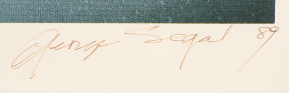 George Segal — Signature of the artist and date, bottom right
