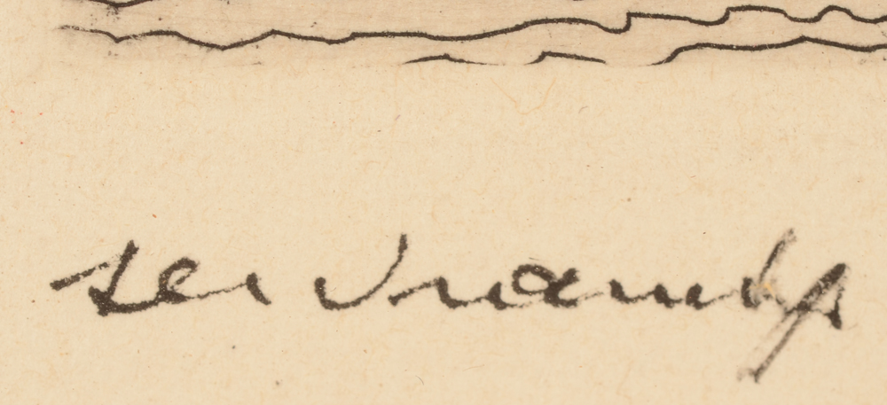 Victor Servranckx — Signature of the artist, bottom left