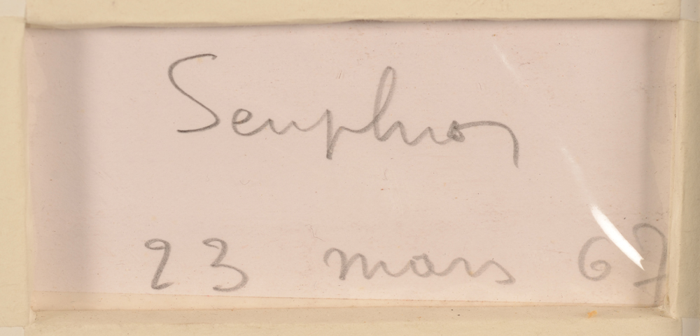 Michel Seuphor — <p>Signature of the artist and date, bottom right at the back</p>