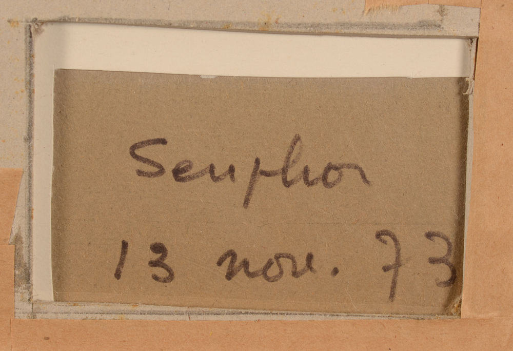 Michel seuphor Drawing Signature — <p>Signature and date&nbsp;at the back of the drawing</p>
