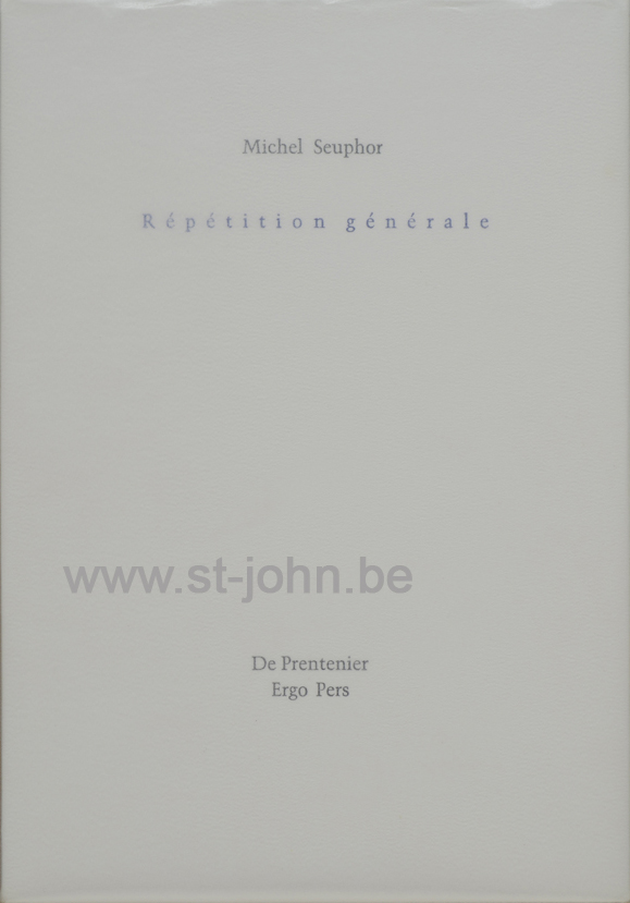 Repetition Generale, 1998 (book).