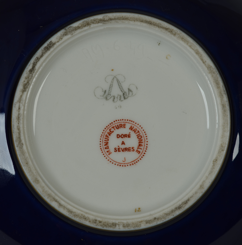 Sevres bowl — Marks on the base.