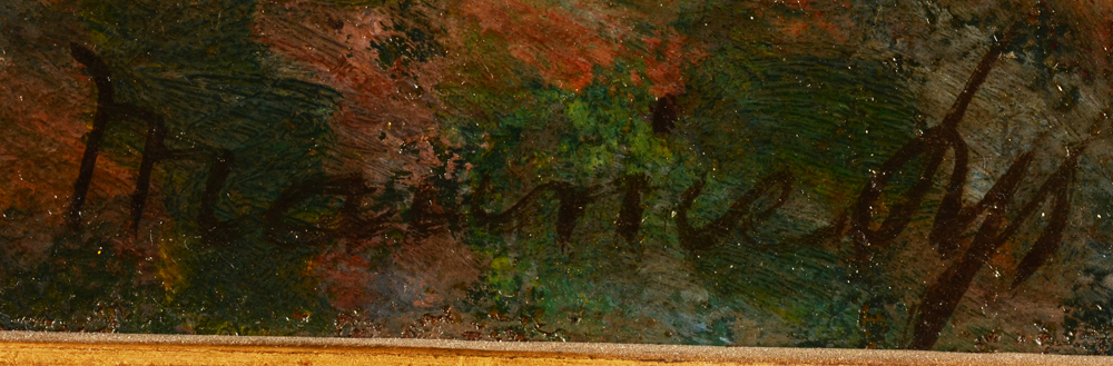 Maurice Sys — Signature of the artist bottom right