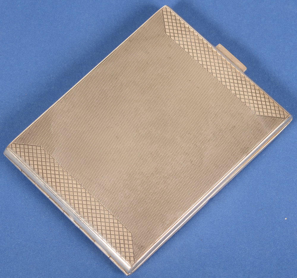 silver cigarette case art deco German — Etui a cigarettes allemand, de style art deco