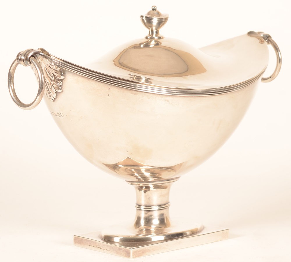 Silver tureen London — Alternate view of the tureen