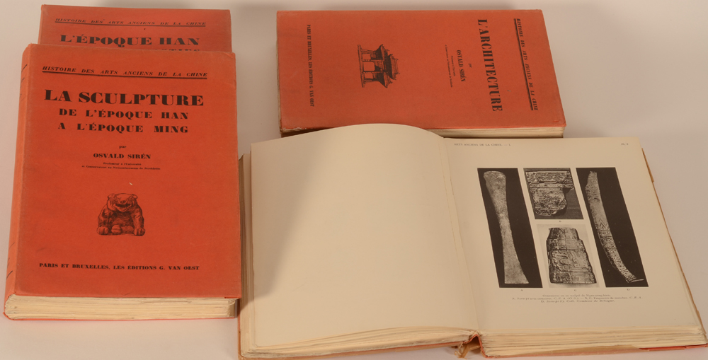 Oswald Sirén — A collection of 4 parts of the series in good condition
