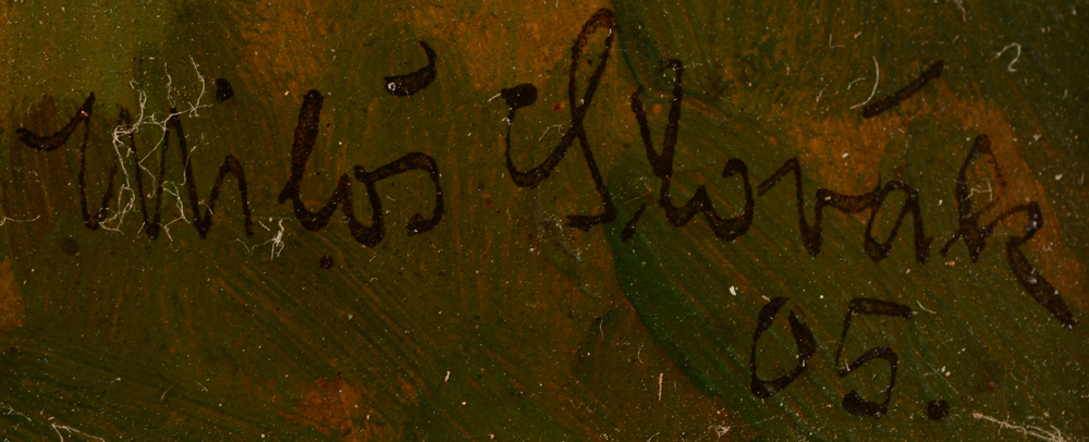 Milos Slovak — Signature of the artist and date bottom right