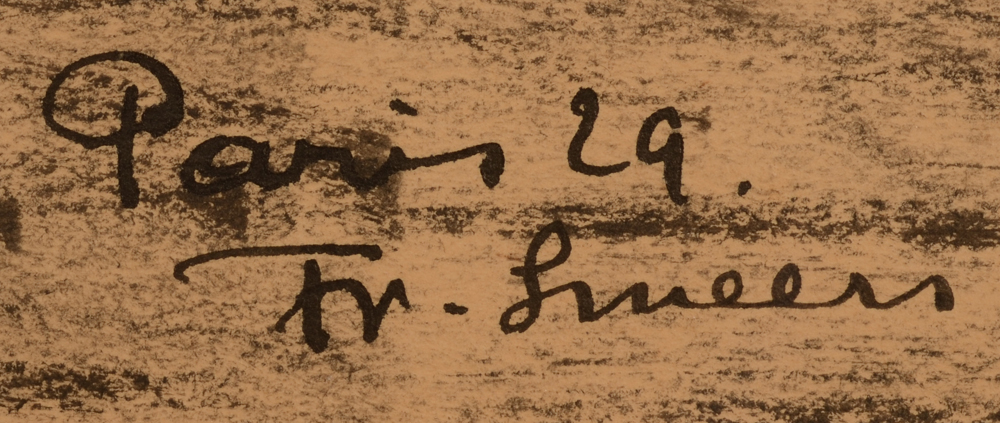 Frans Smeers Paris 1929 — Signature