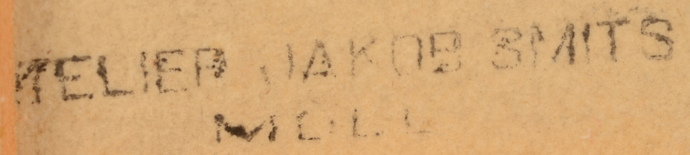 Jakob Smits — <p>detail of one of the stamps, bottom left</p>