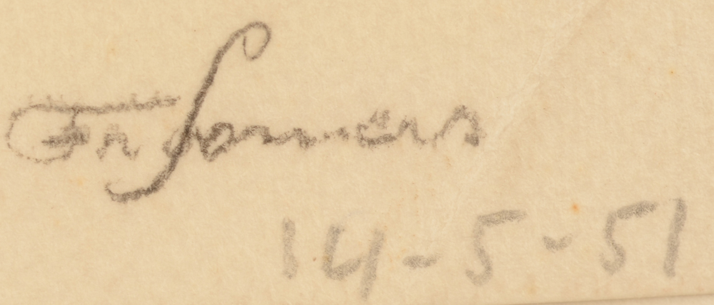 Francine Somers — signature of the artist and date 1951, bottom right