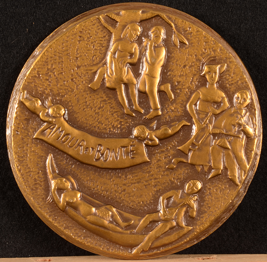 Francine Somers — Back of the bronze medallion